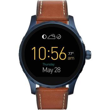 FOSSIL Q MARSHAL 系列觸控智慧型腕錶-黑/45mm FTW2106