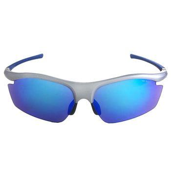【New Balance】包覆型運動偏光太陽眼鏡-水銀藍鏡面 (NB8042-53P)