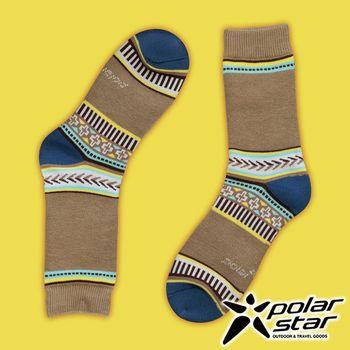 PolarStar 台灣製造 保暖雪襪『卡其』P16614 MIT|刷毛|舒適|保暖襪