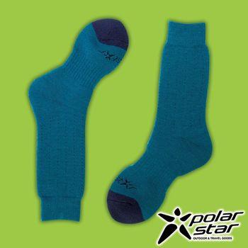 PolarStar 台灣製造 羊毛保暖雪襪『藍綠』P16609 MIT|刷毛|保暖襪|羊毛襪