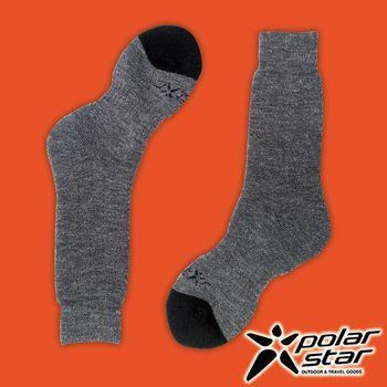 PolarStar 台灣製造 羊毛保暖雪襪『灰』P16609 MIT|刷毛|保暖襪|羊毛襪