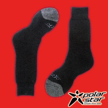 PolarStar 台灣製造 羊毛保暖雪襪『黑』P16609 MIT|刷毛|保暖襪|羊毛襪