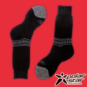 PolarStar 台灣製造 羊毛保暖雪襪『黑』P16610 MIT|刷毛|保暖襪|羊毛襪
