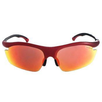 【New Balance】潮流運動太陽眼鏡-水銀黃橘鏡面/鏡腳可調式(NB8050-4)