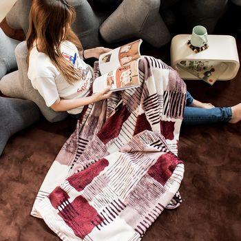 【WANBAO】加厚雙人兩用法蘭絨毯 毛毯 冷氣毯