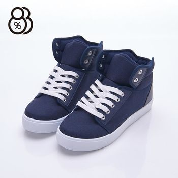 【88%】MIT台灣製 校園百搭款 圓頭包鞋 布面平底 帆布鞋 休閒鞋 2色