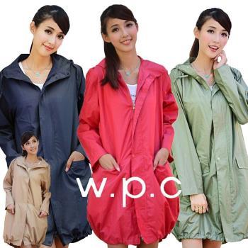 【w.p.c.】束口綁繩款。時尚雨衣/風衣(R1003)