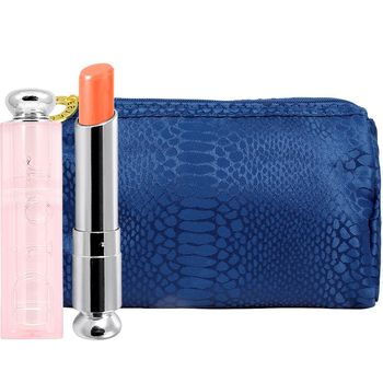 Dior 迪奧 癮誘粉漾潤唇膏(#004)(3.5g)+美妝包