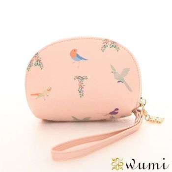 WuMi日韓 娜塔莎貝殼手拿零錢包 優格粉