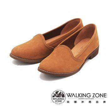 WALKING ZONE 麂皮絨面淺口尖頭 女鞋-棕(另有藍)