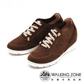 WALKING ZONE 內增高綁帶運動鞋 休閒鞋 女鞋-咖(另有藍)
