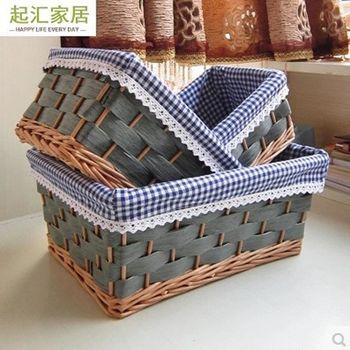 [協貿國際]  家居收納筐籐編儲物筐籃柳編髒衣服籃