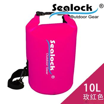 sealock-經典防水系列-IPX7經典PVC防水桶背包10L-玫紅