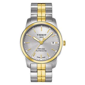 TISSOT 天梭 PR100 簡約奢華設計機械腕錶-38mm/T0494072203100