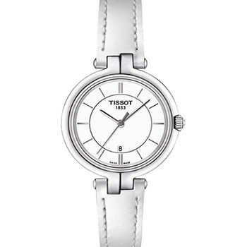 TISSOT 天梭 經典淑女石英女用皮帶腕錶-26mm/T0942101601100