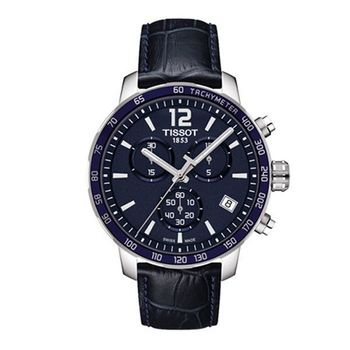 TISSOT 天梭 T-Sport Quickster 競速運動三眼計時腕錶-深藍/42mm/T0954171604700
