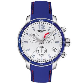 天梭TISSOT-T-SPORT 經典現代運動計時腕錶/藍-42mm-T0954491703700