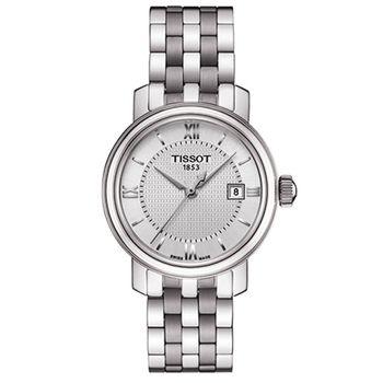 TISSOT 天梭 寶環系列經典羅馬數字石英女錶/29mm/T0970101103800