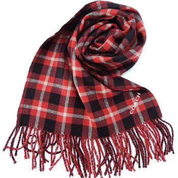 COACH 雙色格紋流蘇圍巾(2色選)