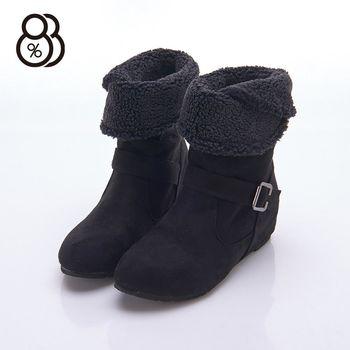 【88%】秋冬靴款 保暖毛料內裡 可反摺 隱形內增高3.5cm 中筒靴 靴子