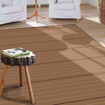 【范登伯格】萊富手工編織羊毛地毯-線條(深棕)-160x240cm