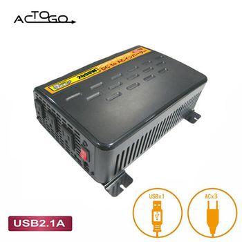 《ACtoGO》12V轉110V + 5V USB 2000W汽車電源轉換器