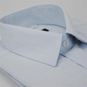 【金安德森】淺藍直條紋長袖襯衫