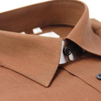 【金安德森】純棉咖啡色短袖襯衫