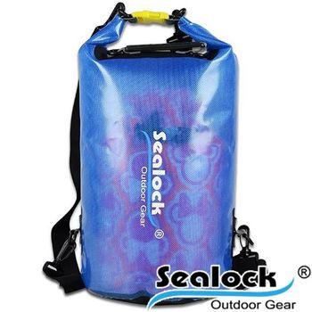 sealock-經典防水系列-IPX7果凍PVC防水背20L雙肩-藍色