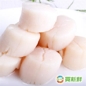 【買新鮮】頂級生干貝4包組(400g±10%/包(包冰率20%)8-12顆)