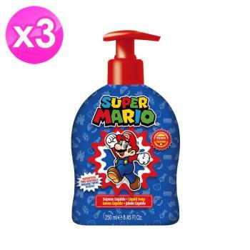 【義大利原裝進口】Super Mario有機植萃潔膚露(青蘋果香)-250ml ( 3入組 )