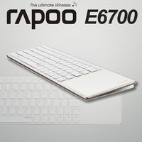 RAPOO 雷柏 藍芽超薄觸控鍵盤 ^#40 E6700 ^#41