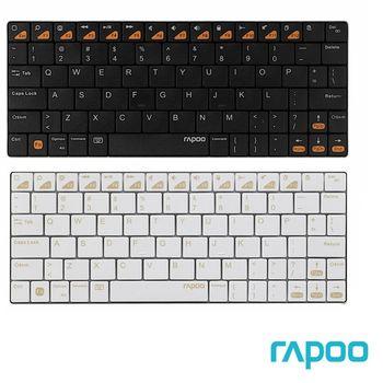 RAPOO 雷柏 E6300 藍芽 iPad 超薄鍵盤 (黑/金)