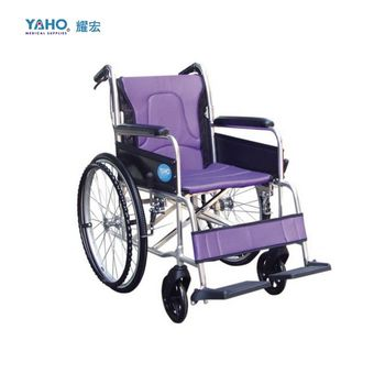【亮亮生活】★ 鋁合金輪椅 可折背 ★