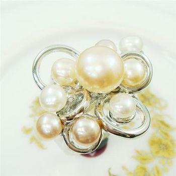 【蕾帝兒珠寶】情意濃情人天然珍珠戒指