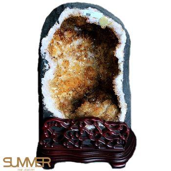 【SUMMER寶石】頂級巴西5A級天然黃水晶洞《25.6kg》(唯一精品-806-4)