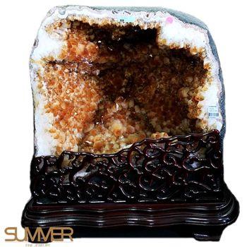 【SUMMER寶石】頂級巴西5A級天然黃水晶洞《71kg》(唯一精品-806-1)
