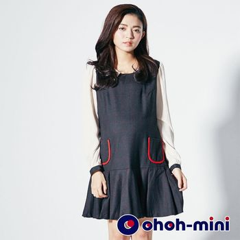 ohoh-mini孕婦裝 甜美學院風孕婦洋裝