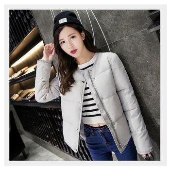 (現貨+預購 RN-girls)-韓版秋冬裝新品時尚短款加厚羽絨棉外套