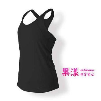 【HODARLA】女果漾背心-無袖上衣 慢跑 路跑 瑜珈 運動 休閒 黑