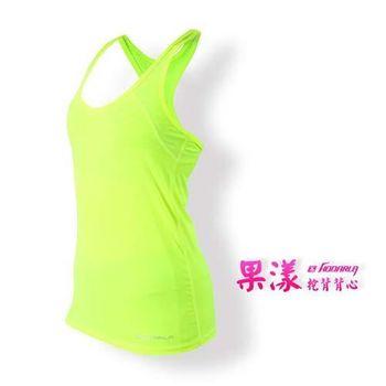 【HODARLA】女果漾背心-無袖上衣 慢跑 路跑 瑜珈 運動 休閒 螢光黃