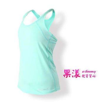 【HODARLA】女果漾背心-無袖上衣 慢跑 路跑 瑜珈 運動 休閒 粉綠