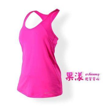 【HODARLA】女果漾背心-無袖上衣 慢跑 路跑 瑜珈 運動 休閒 亮桃紅