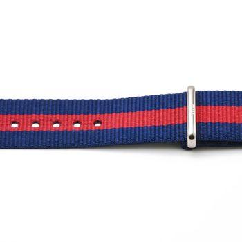 DW Daniel Wellington 瑞典原廠帆布錶帶-紅藍帆布帶 18mm / 0801DW
