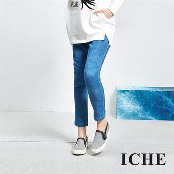 【ICHE 衣哲】刷色合身鉛筆牛仔單寧長褲