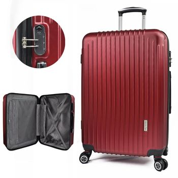 America Tiger璀璨紅24吋ABS行李箱