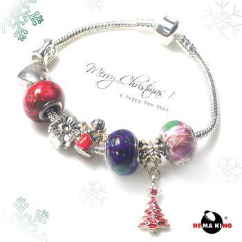 【HEMAKING】潘朵拉黑膽彩繪聖誕氣氛手鍊