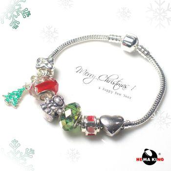 【HEMAKING】潘朵拉聖誕愛心手鍊