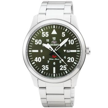 ORIENT 東方錶野戰石英鋼帶錶-棕綠色 / FUNG2001F (原廠公司貨)