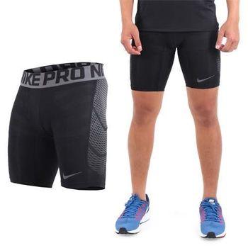 【NIKE】男彈力短褲-運動 訓練 慢跑 路跑 緊身 黑灰